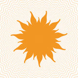 与里面力量波浪的太阳形状 免版税库存图片