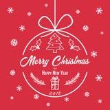 与里面题字的圣诞节中看不中用的物品 库存照片