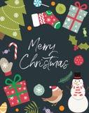 与里面题字的圣诞节装饰 库存照片