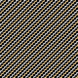 与重复不尽的金黄链子的无缝的背景样式 免版税图库摄影