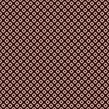 与重复的圈子的无缝的样式 六方形螺母主题 几何抽象的背景 现代样式表面纹理 皇族释放例证
