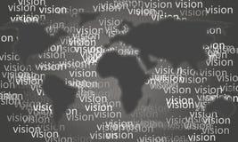 与重复的视觉词的灰色树荫平面球形图 免版税库存照片