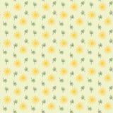 与重复花和叶子的无缝的背景样式 免版税图库摄影