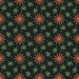与重复花和叶子的无缝的背景样式 免版税库存照片