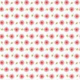 与重复花和叶子的无缝的背景样式 图库摄影