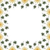 与重复花和叶子的背景样式 免版税库存图片
