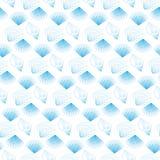 与重复蓝色海壳的无缝的样式 图库摄影