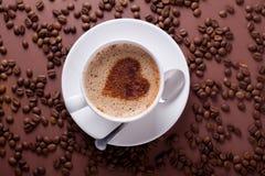 与重点的咖啡 免版税库存图片