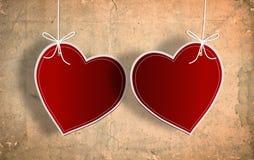 与重点纸张的情人节看板卡 免版税库存图片