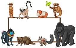 与野生动物的委员会模板 库存例证