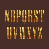 与金刚石字体的例证 库存图片