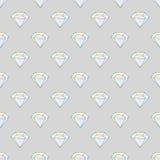 与金刚石的时尚行家无缝的样式 假钻石设计瓦片 向量例证