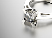 与金刚石的环形 背景黑色织品金珠宝银 库存图片