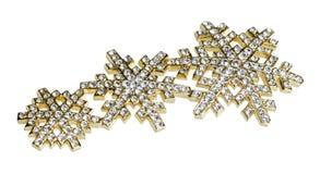 与金刚石的金黄珠宝 库存照片