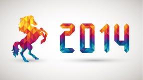 与金刚石马的新年好2014年 免版税库存图片