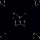与金刚石蝴蝶的无缝的样式 图库摄影