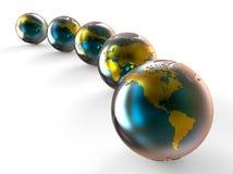 与金地图的地球行星 向量例证