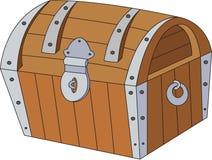 与金子的宝物箱 免版税库存照片