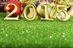 与金子的新年构成第2015年 图库摄影