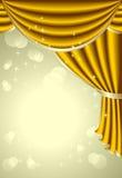 与金子的背景装饰 免版税库存图片
