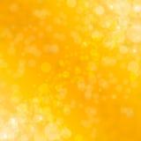 与金子闪烁闪闪发光的抽象背景发出光线光bokeh和星 金子欢乐圣诞节背景 向量例证