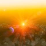 与金子闪烁闪闪发光的抽象背景发出光线太阳光bokeh 光和纹理关于幻想,科学, rel 向量例证
