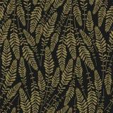 与金小树枝的花卉无缝的样式纹理在黑暗的背景 黑色金子 也corel凹道例证向量 免版税图库摄影