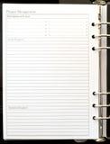 白色项目笔记 免版税库存照片