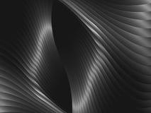 与金属波浪的抽象背景 库存图片