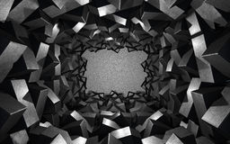 与金属立方体的背景 库存图片