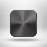 与金属纹理的技术app图标ui的 免版税库存图片