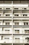 与金属结构的旅馆大厦 免版税图库摄影