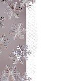 与金属雪花的圣诞节边界 图库摄影