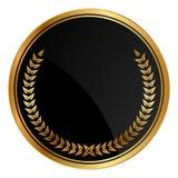 与金月桂树的奖牌 免版税库存照片