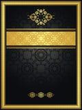 与金框架的葡萄酒无缝的背景 免版税库存照片