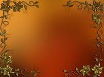 与金装饰物框架的抽象背景 免版税图库摄影