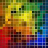 与金边界的明亮的颜色马赛克 免版税库存图片