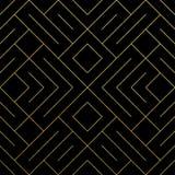 与金闪烁的滤网纹理的金黄抽象几何无缝的样式瓦片背景 菱形和金属的传染媒介样式 图库摄影
