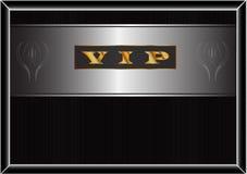 与金题字` VIP `的海报 免版税库存照片