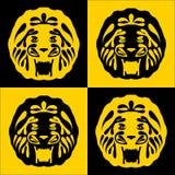与金鬃毛的狮子 免版税库存照片