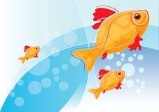 与金鱼的例证 库存照片