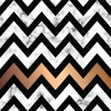 与金黄几何形状的传染媒介大理石纹理设计,黑白使有大理石花纹的表面,现代豪华背景 皇族释放例证