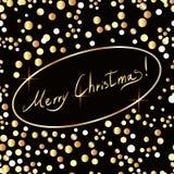 与金黄小点和文本的圣诞节背景 皇族释放例证