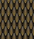 与金黄艺术装饰样式样式的黑ackground 皇族释放例证