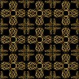 与金黄样式的墙纸 向量例证