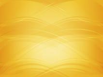 与金黄波浪的背景 图库摄影
