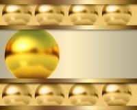 与金黄球的抽象模板 免版税库存图片