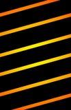 与金黄线横跨/摘要例证的黑背景 库存图片