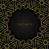 与金黄装饰品的黑圈子 图库摄影