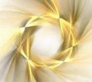与金黄轮子或花圈样式, f的抽象白色背景 免版税库存照片